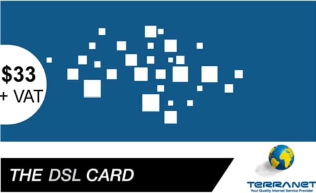 TERRA DSL$33 (4M/150GB) (OS/120GB) (3M/UNLIMITED) (SMART OS/UNLIMITED)